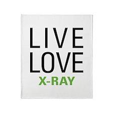 Live Love X-Ray Throw Blanket