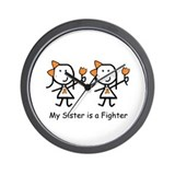 Orange Ribbon - Sisters Wall Clock