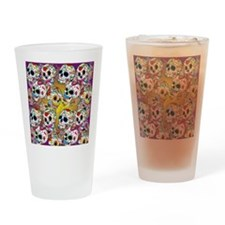 Sugar Skulls Drinking Glass