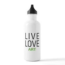 Live Love Art Water Bottle