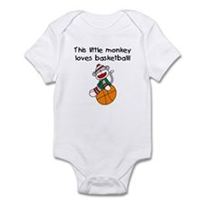 Little Monkey Loves Basketball Onesie