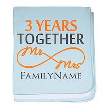 3rd anniversary baby blanket