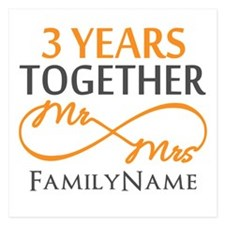 3rd anniversary Invitations