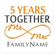 5th wedding anniversary Invitations