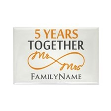 5th wedding anniversary Rectangle Magnet