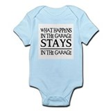 STAYS IN THE GARAGE Onesie