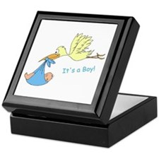 Baby Stork It's a Boy Announcement Keepsake Box