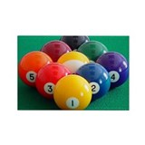 9 Ball Rack Rectangle Magnet (10 pack)