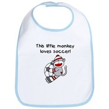 Little Monkey Loves Soccer Bib