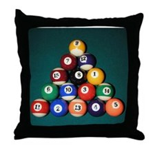 8 Ball Rack Throw Pillow