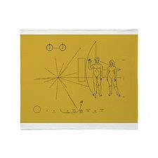 Pioneer Space Plaque Throw Blanket