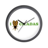 I Love Cicadas Wall Clock