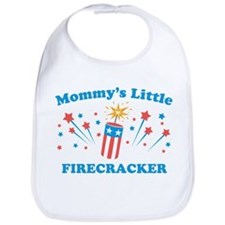 Mommys Little Firecracker Bib