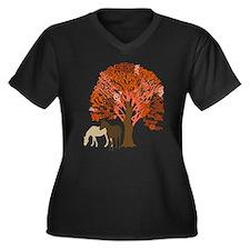 Autumn Equestrian Horses Plus Size T-Shirt