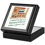 Future Accountant Keepsake Box