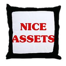 Nice Assets Throw Pillow