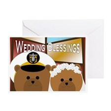 Naval Officer Groom And Bride Greeting Cards