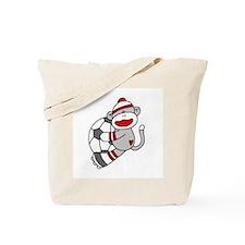 Sock Monkey Soccer Tote Bag