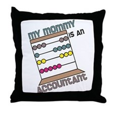Mommy Accountant Throw Pillow