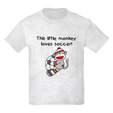 Little Monkey Loves Soccer T-Shirt