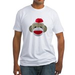 Sock Monkey Face Fitted T-Shirt