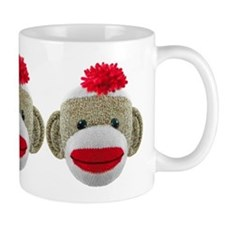 Sock Monkey Face Mug