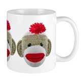 Sock Monkey Face Small Mug