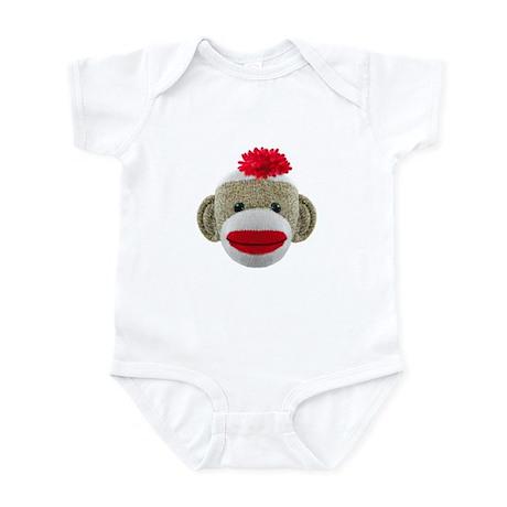 Sock Monkey Face Infant Bodysuit