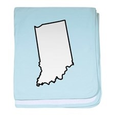 I Heart Indiana State Outline baby blanket