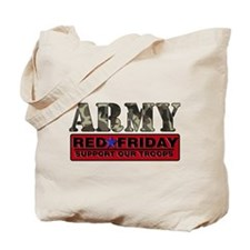 Red Friday Army Tote Bag
