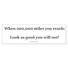 200000 Mile Bumper Sticker (Level 2)