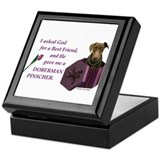 Doberman Keepsake Box