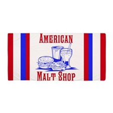 American Malt Shop Beach Towel