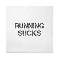 running-sucks-CAP-GRAY Queen Duvet