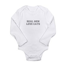 real-men-love-cats-FRESH-GRAY Body Suit