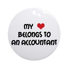 Heart Accountant Ornament (Round)