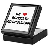 Heart Accountant Keepsake Box