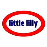 Little Lilly Oval Decal