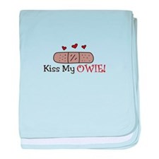 Kiss My Owie baby blanket