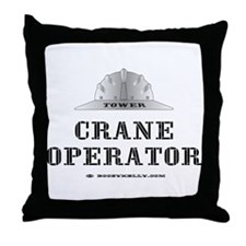 Tower Crane Throw Pillow