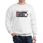 Patriotic Tie Dye Flag Design Sweatshirt