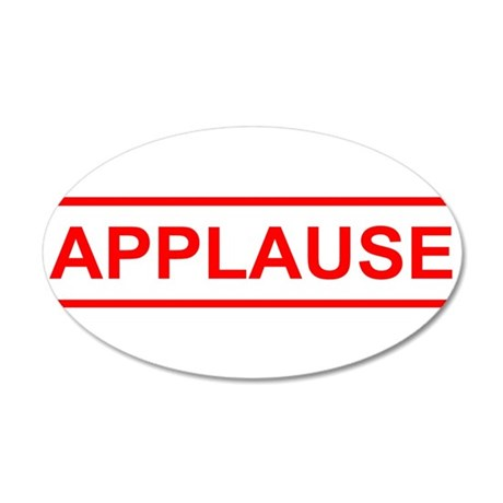 Applause 35x21 Oval Wall Decal
