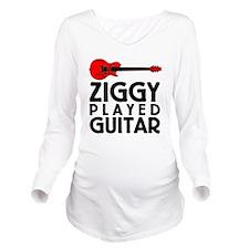 Ziggy Played Guitar Long Sleeve Maternity T-Shirt