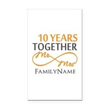 10th anniversary Rectangle Car Magnet