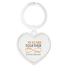 10th anniversary Heart Keychain
