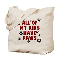 Kids paws Tote Bag