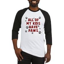 Kids paws Baseball Jersey