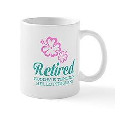 Funny Retirement Mugs | Pink Floral Design