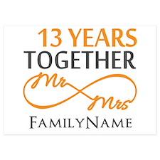 13th anniversary wedding Invitations