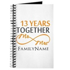 13th anniversary wedding Journal
